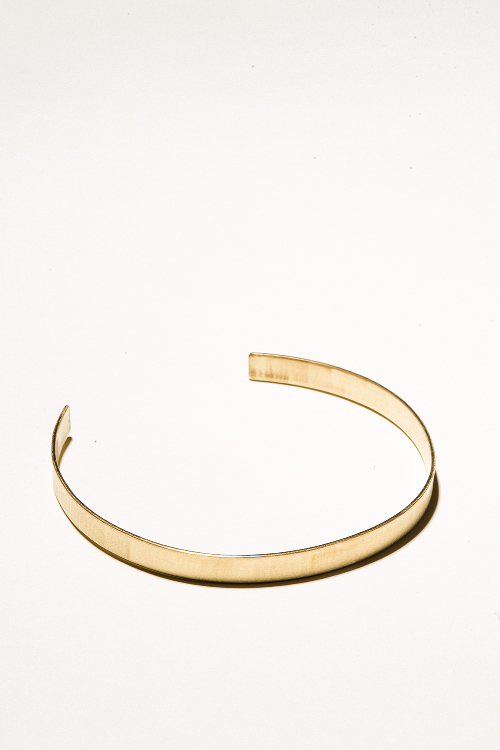 10 Brass Collar - 10mm wideJewelers Brass with Lacquer FinishHand Smithed$150