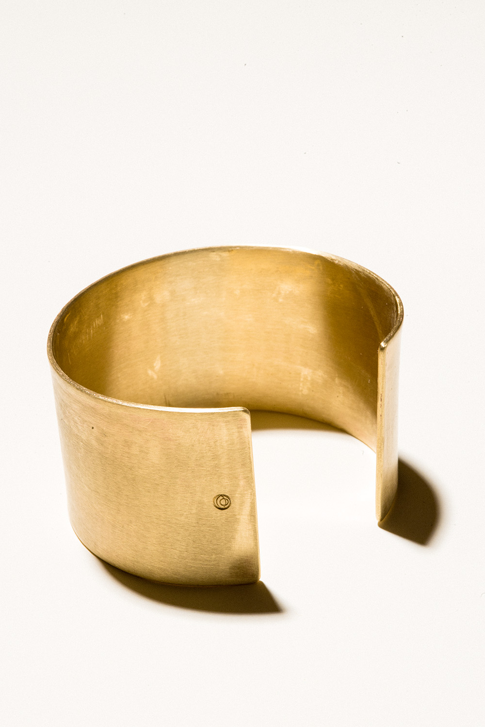 40 Brass Cuff - 40mm wideJewelers Brass with Lacquer FinishHand Smithed$125