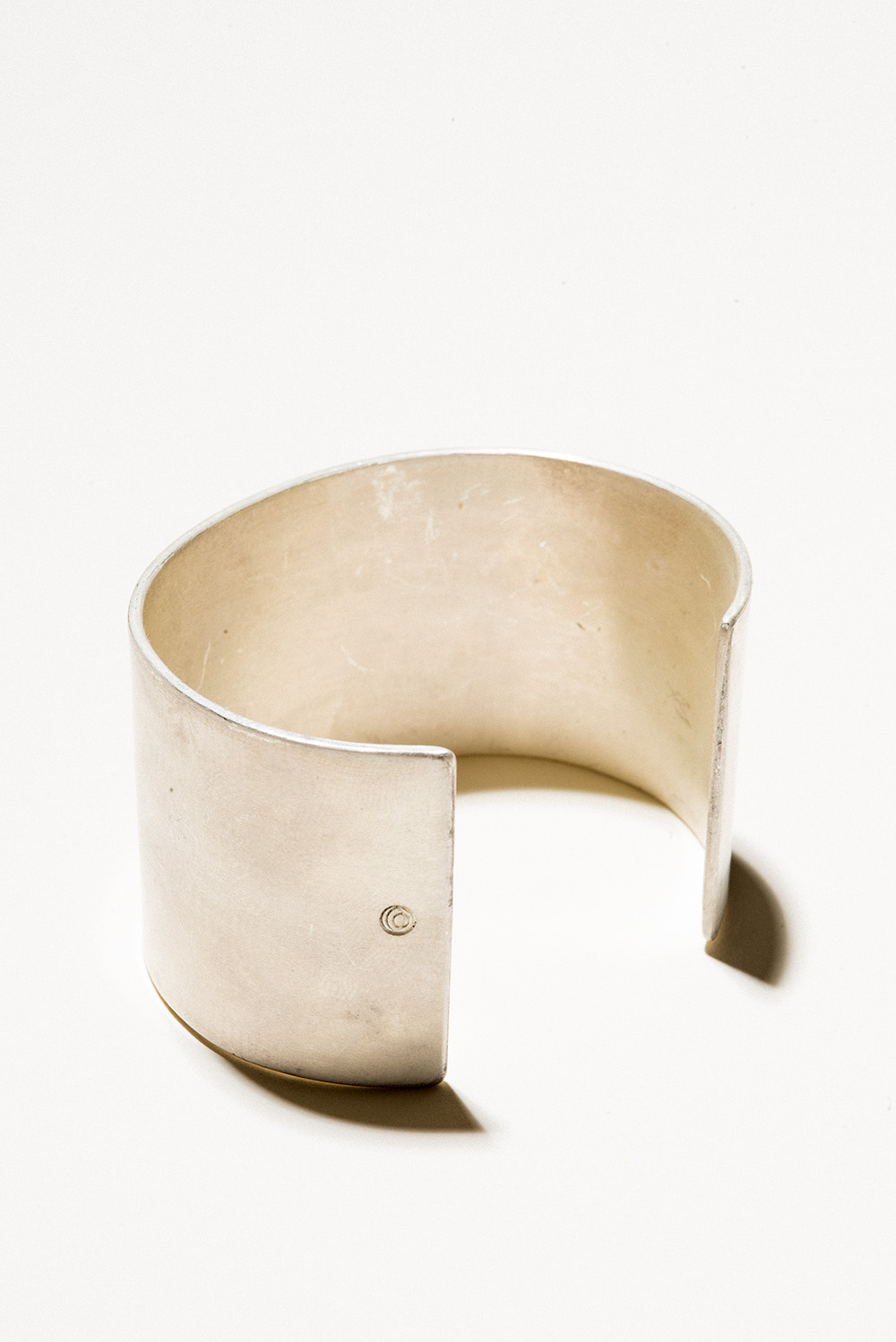 40 Silver Cuff - 30mm wideSterling Silver, Raw FinishHand Smithed $300