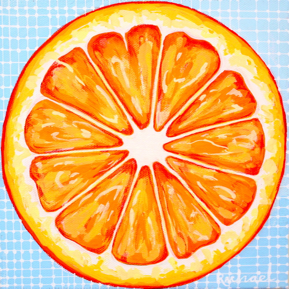 "OJ - 8"" x 8"" gouache and pencil on canvasSOLD"