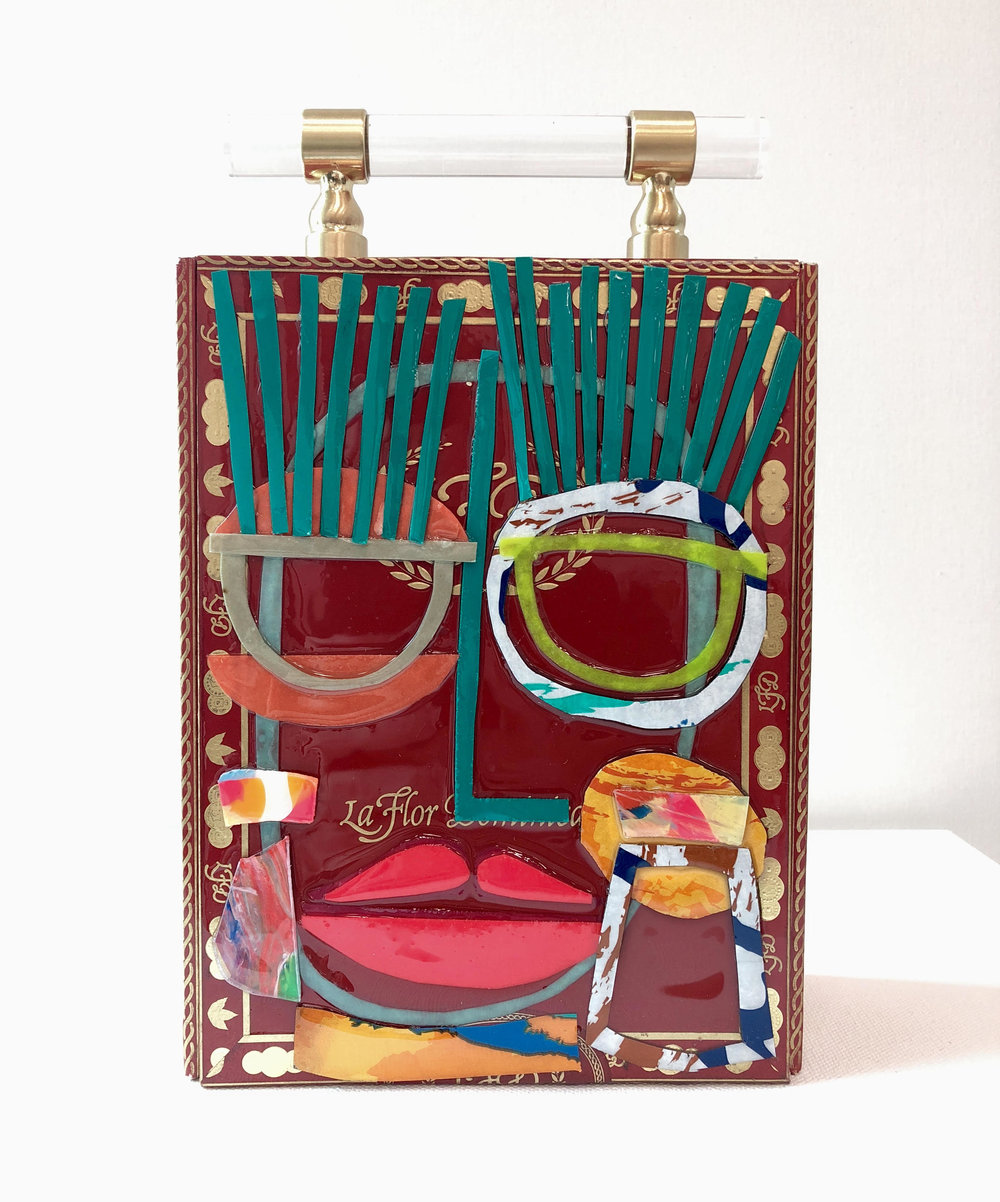 Miles Purvis Daniel Clutch - Mixed media, resin on cigar box$400