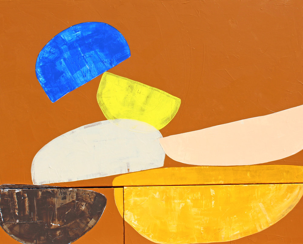 """Heap - 48"""" x 60"""" acrylic on canvas$3200"""