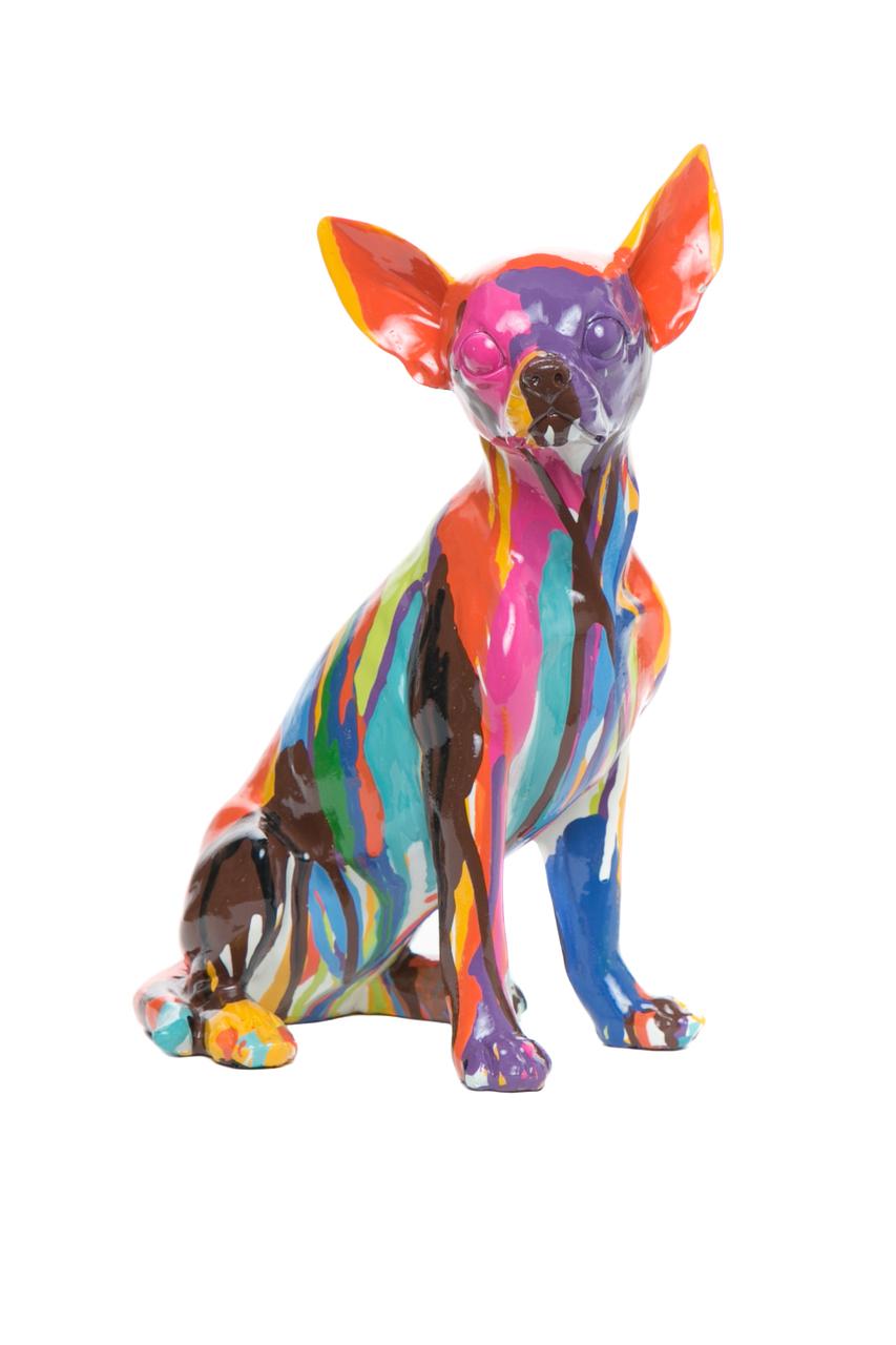 "Happy Chihuahua 11"" hand painted ceramic $85"