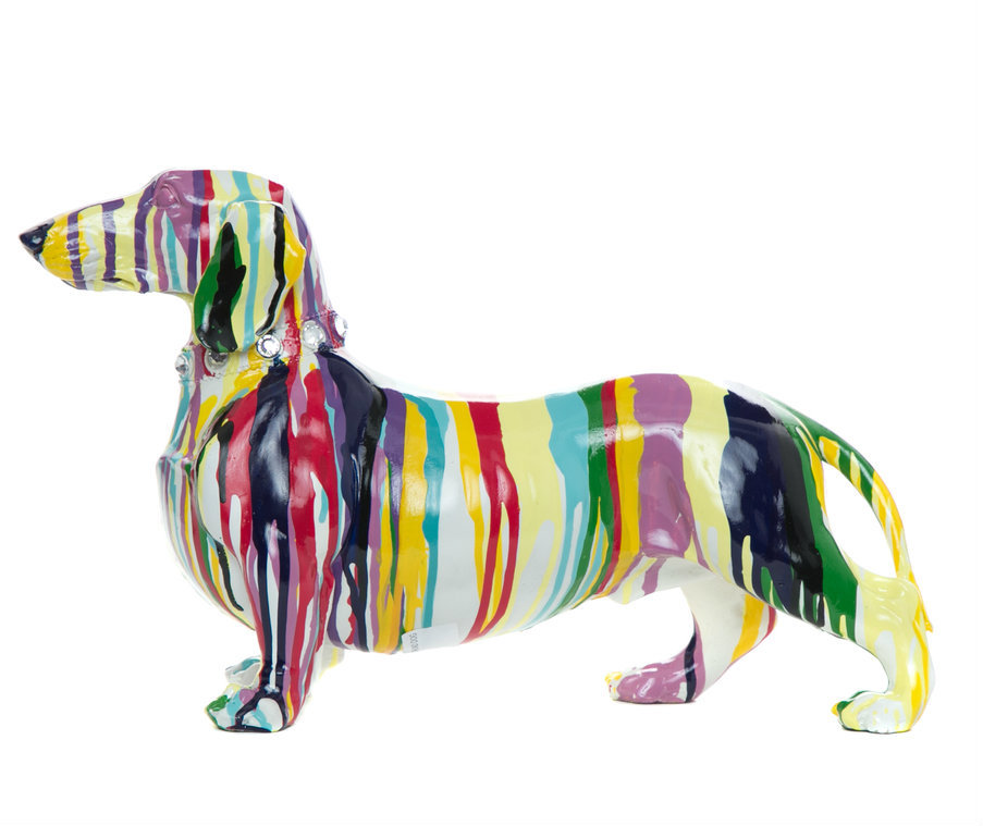 "Duchess the Dauchund 14"" hang painted ceramic  $127.50"