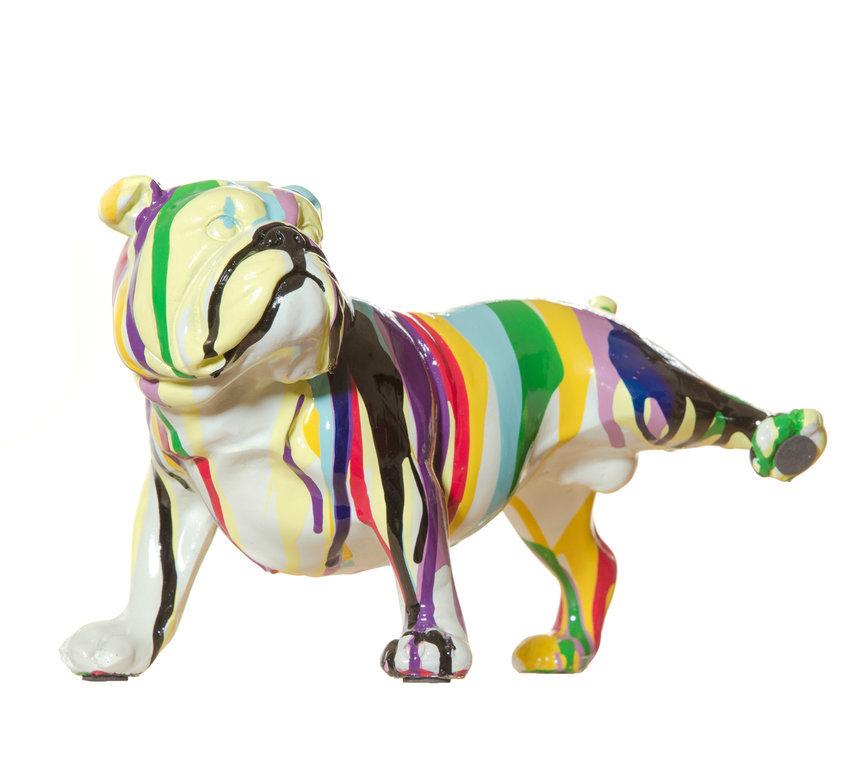 "Hydrated Bulldog 10"" hand painted ceramic $80"
