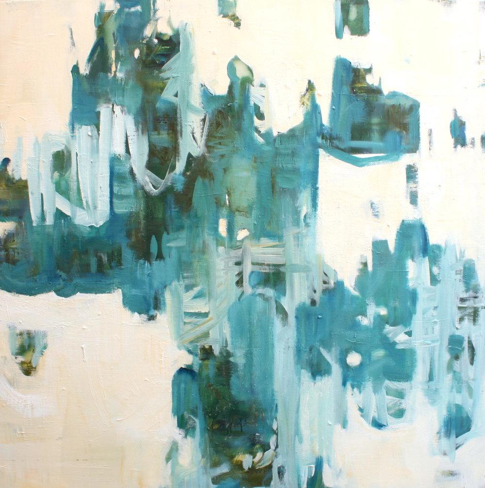 "Make Believe - 48"" x 48""Oil on birch panel$4800"