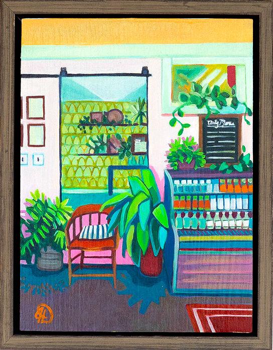 "A Favorite Routine - 8'"" x 6"" oil on wood panel, framedSOLDInspired by The Harbinger"