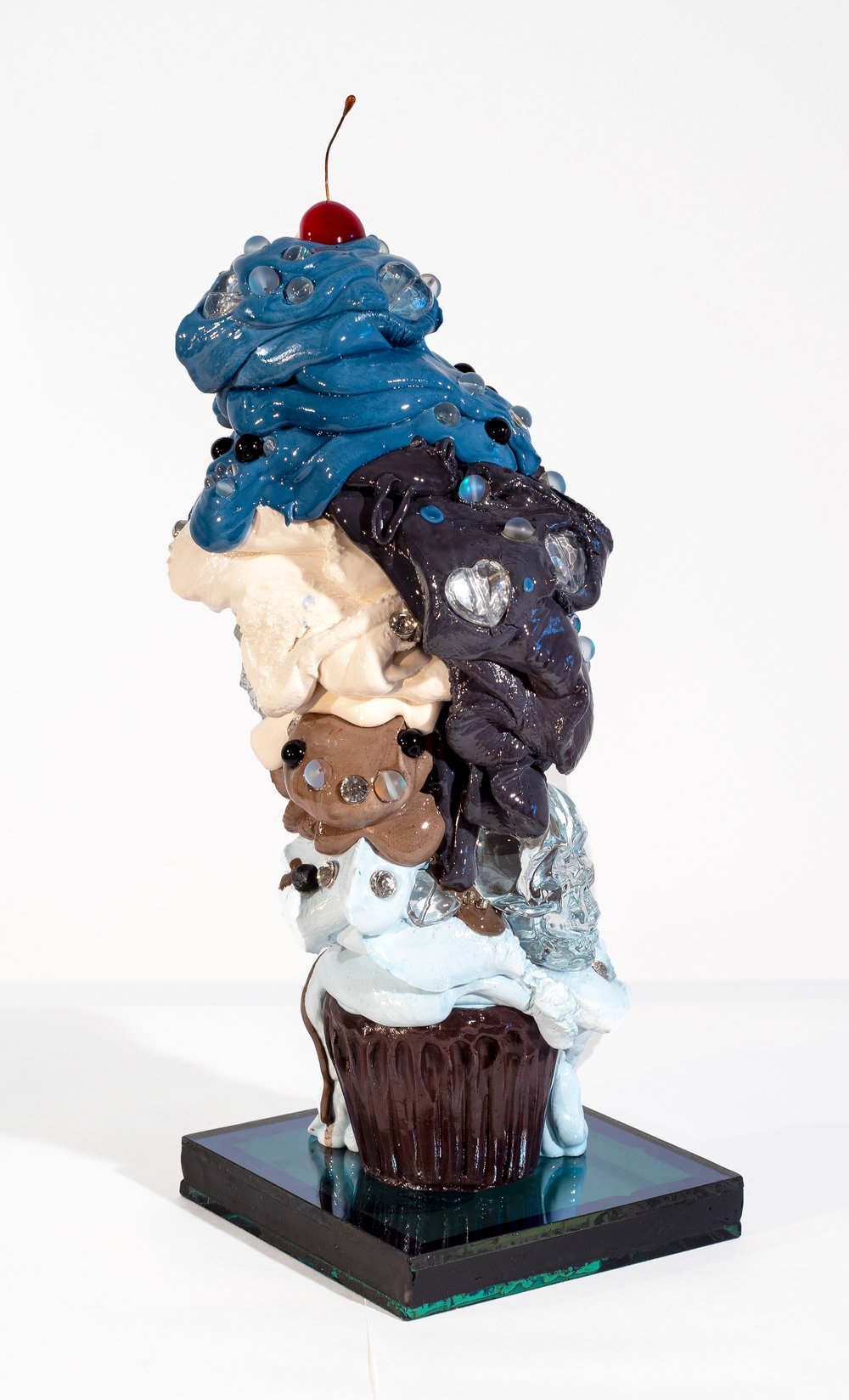 "'Til Death Do Us Part - Olivia Bonilla16"" x 6"" x 6""Cement, glass, resin, mixed media$900"
