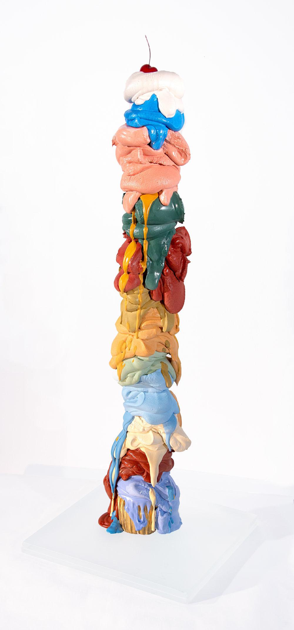 "Over The Rainbow - Olivia Bonilla32"" x 10"" x 10""Cement, glass, resin$2200"