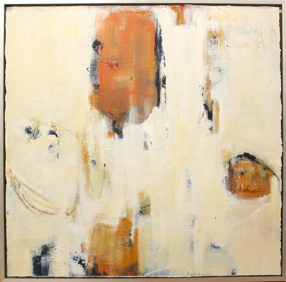 """Reconciled - 30"""" x 30"""" oil on paper, framed$1950"""