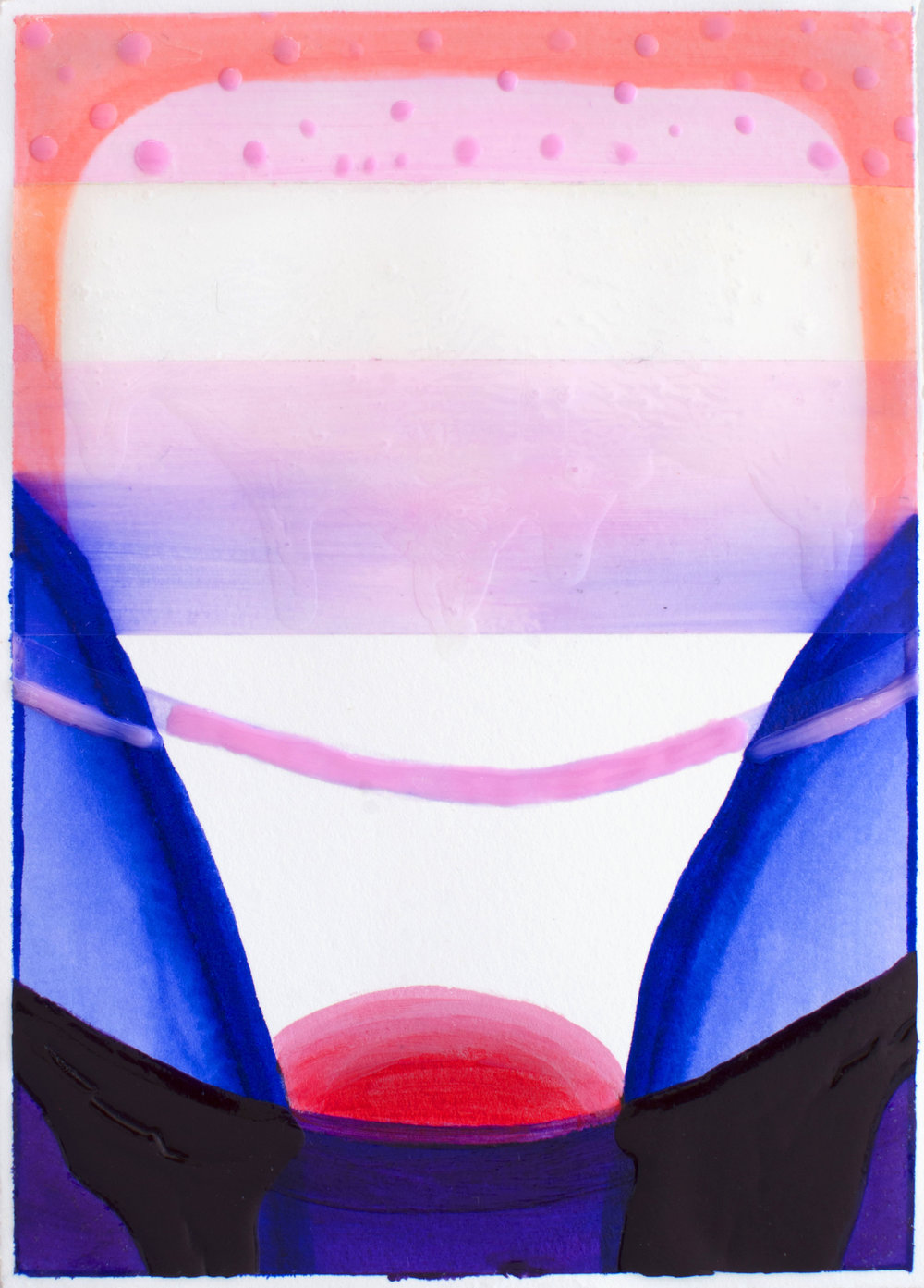"""Rises - Elise Thompson7"""" x 5"""" watercolor and acrylic on paper, framed$175"""