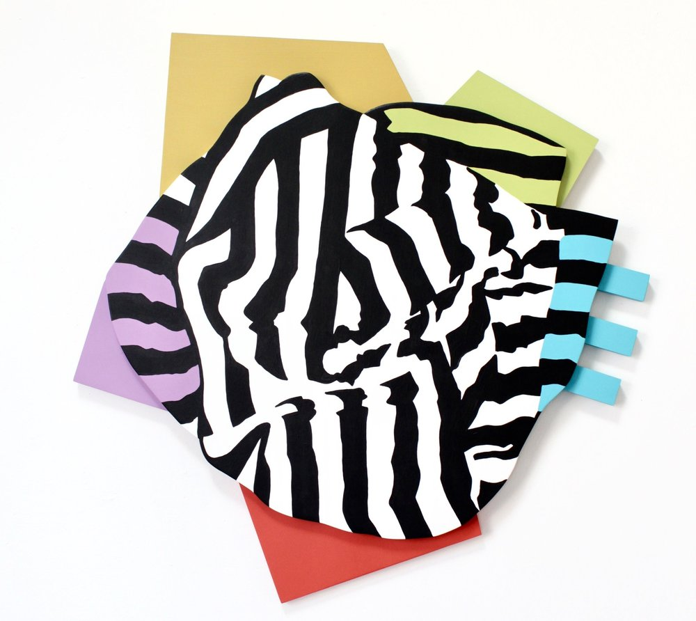 "Rainbow Knot - Angela Chrusciaki Blehm31"" x 31"" x 1.5"" latex paint on wood$1200"