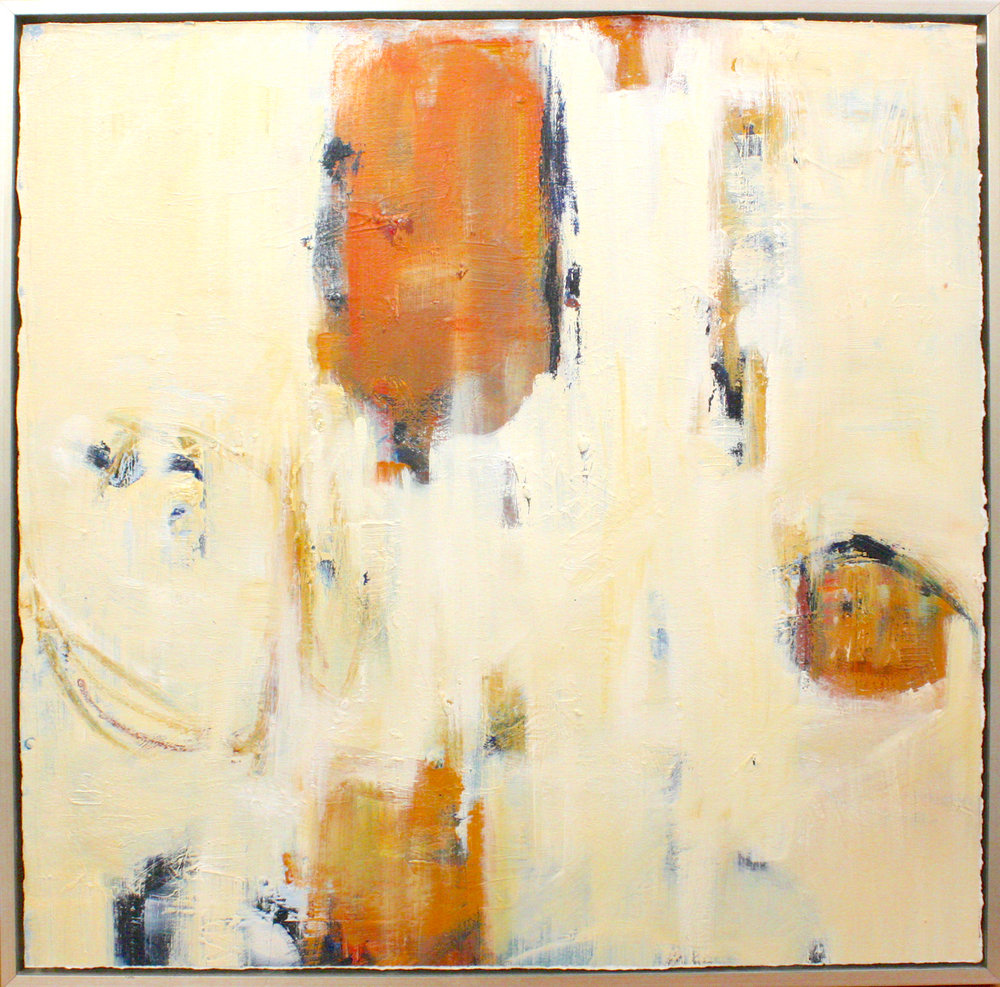 "Reconciled - Dixie Purvis30"" x 30"" oil on paper, framed$1950"