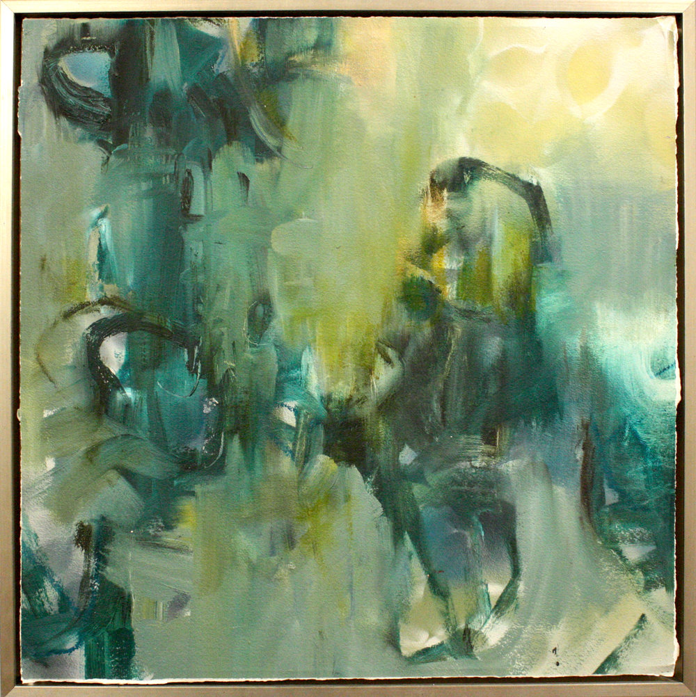 "Lush - Dixie Purvis24"" x 24"" oil on paper, framed$1200"