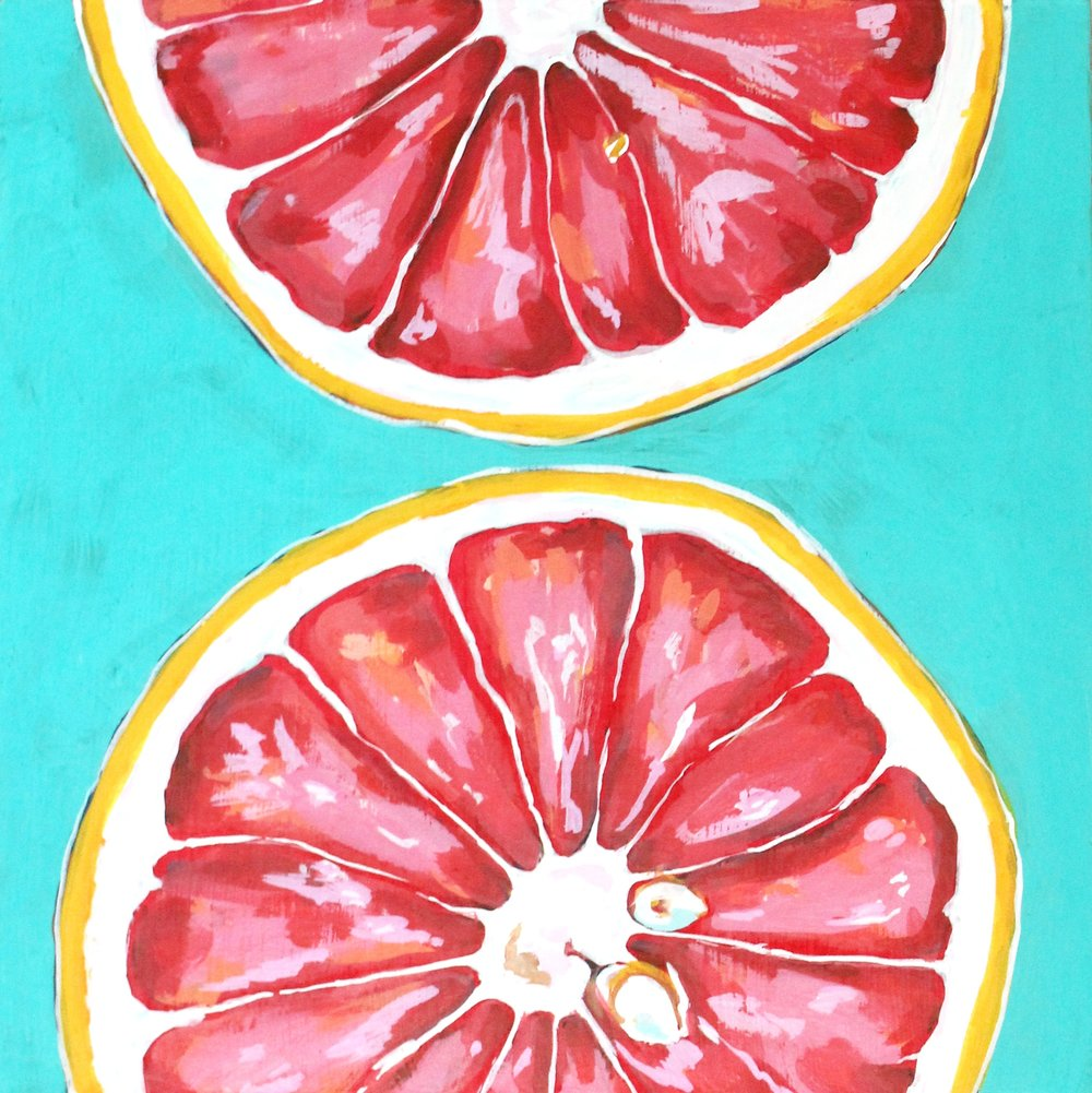 "Summer Diet - 10"" x 10"" gouache on panel$225"