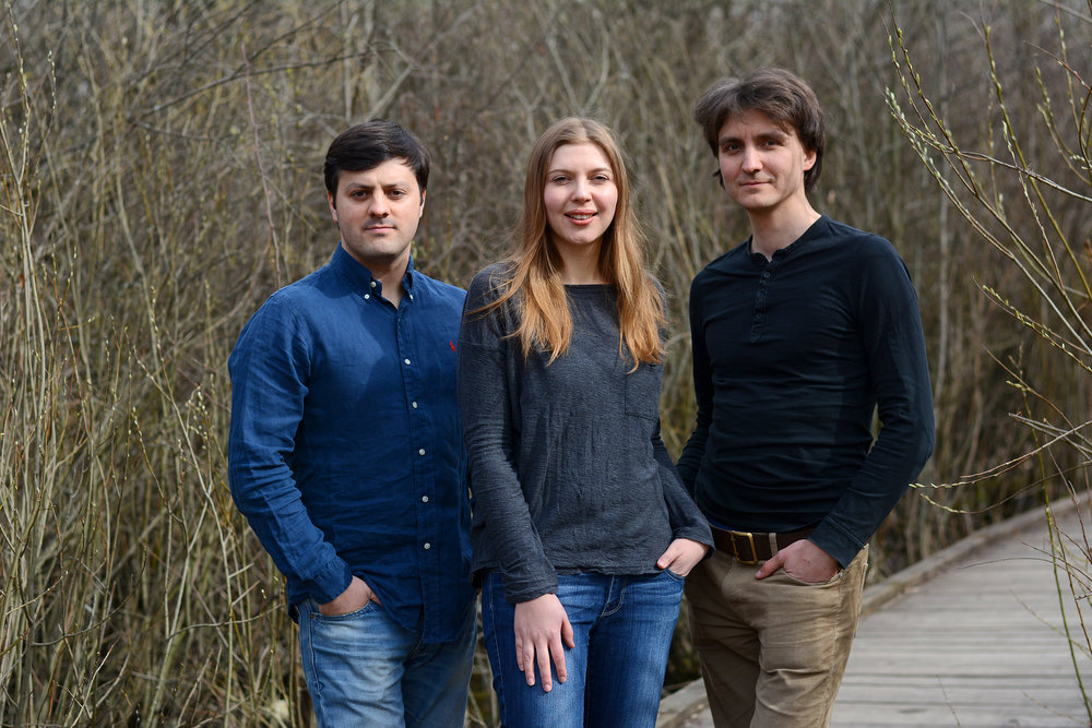 From left: Alexander Bolmat, Tanya Repina, Misha Repin