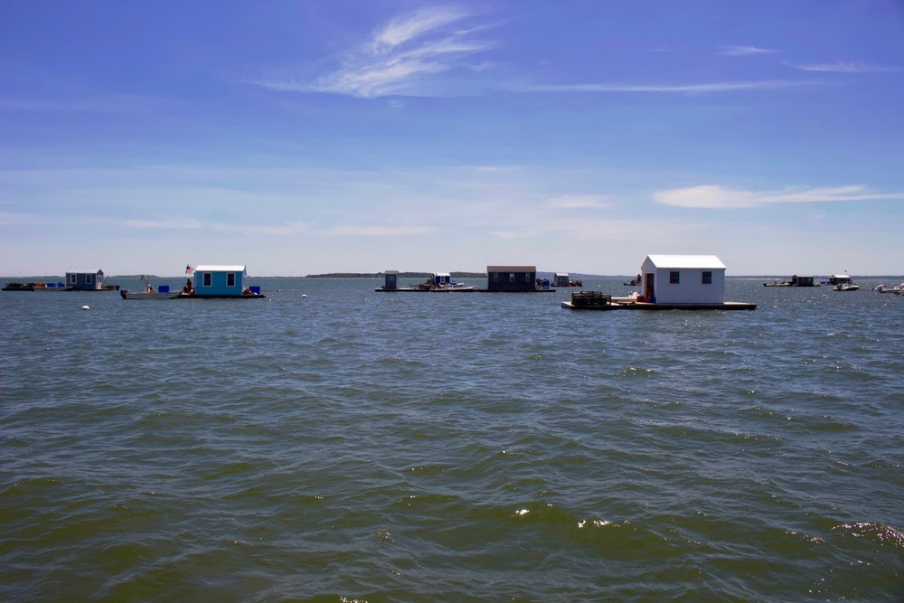 Oyster plex's on Duxbury Bay.