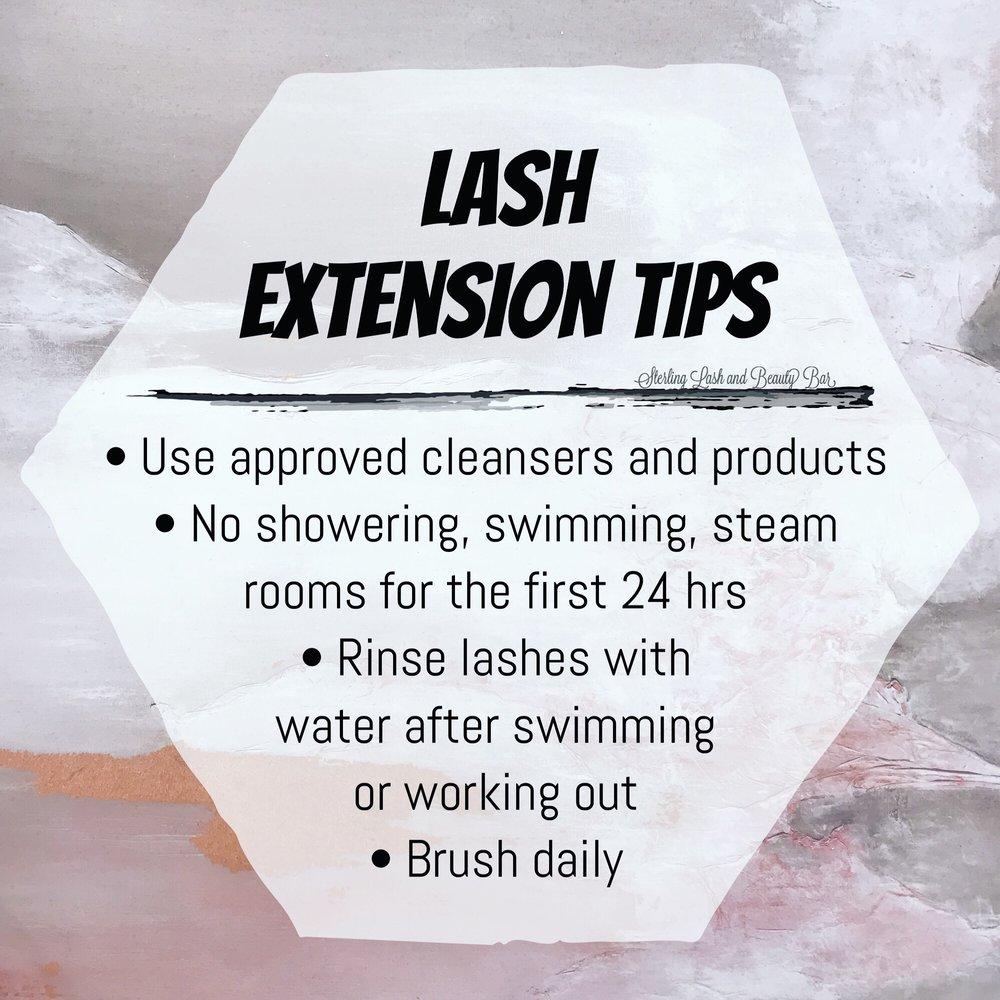 Lash Extension Care Sterling Lash Beauty Bar