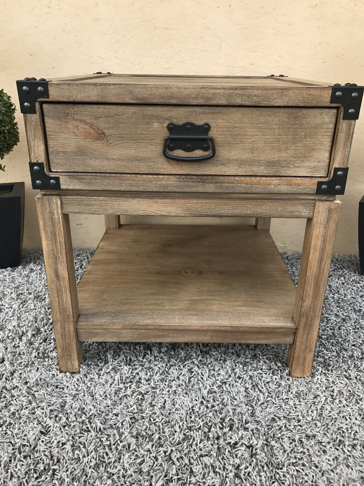 Treasure Trove Accents Carmel Burnished Natural Finish Trunk End