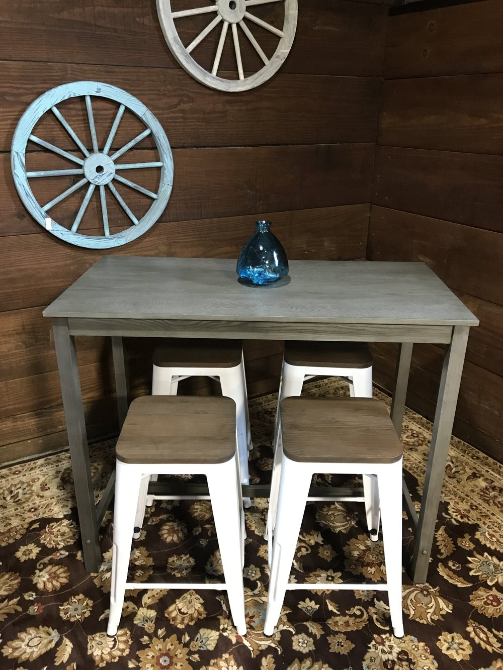 Genial SOLD Counter Height Distressed Gray Pub Table   Threshold And