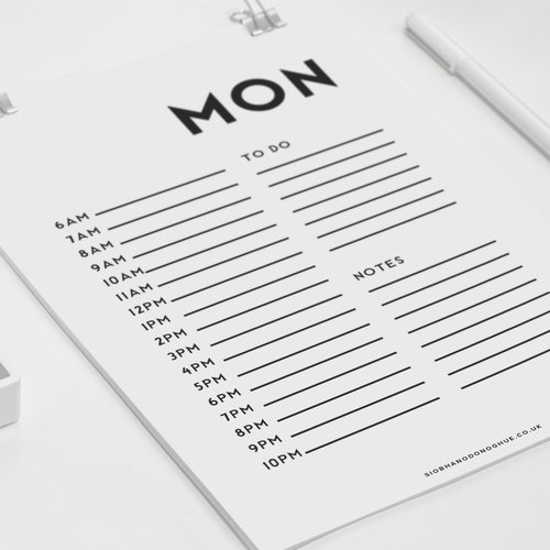 printable daily planner pages minimal siobhan o donoghue