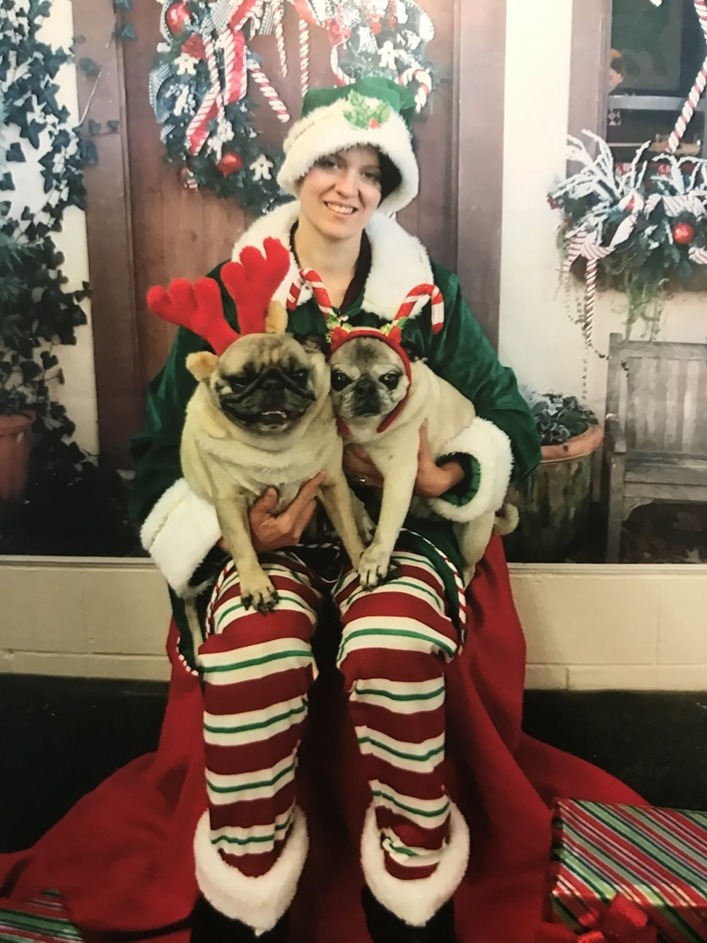 Happy Holidays - From my household to yours.We got this card from the boys' daycare. Apparently they went to a Christmas party and had their picture taken in Santa's Workshop. Isn't this the best?I love it and I love you.I wish you love, peace, and joy.xxxLori-Lyn