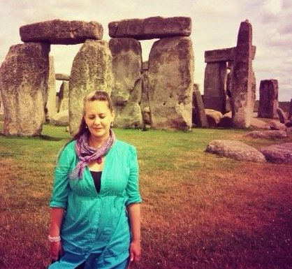 I came across this picture of me at Stonehenge - I'm not sure how many years ago it was taken. I wasn't intentionally closing my eyes - it's just something that happens a lot in pictures of me.I wish I still had that rose quartz bracelet.