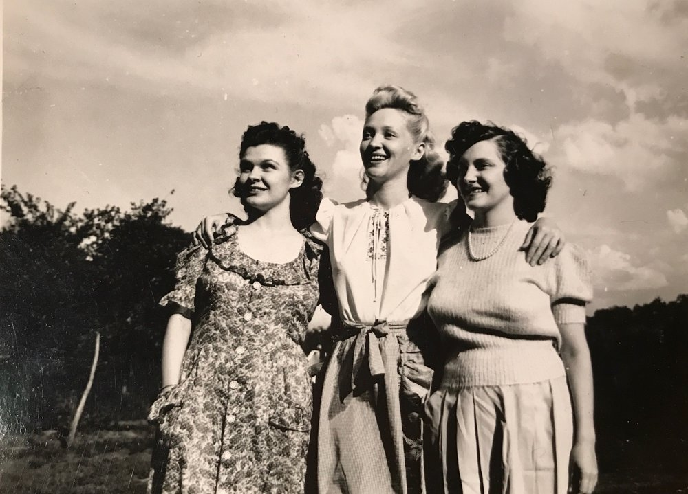 My grandmother Gladys, great aunt Evelyn, and great aunt Naomi
