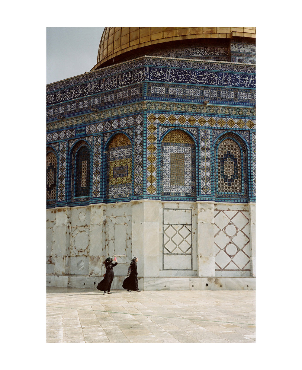 Taking selfies. Al-Aqsa, Jerusalem.