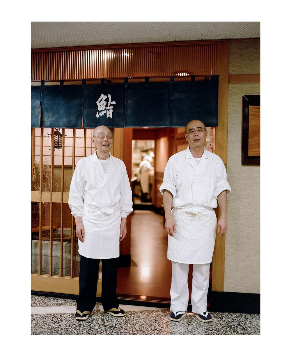 Sushi masters Jiro Ono and son Yoshikazu.
