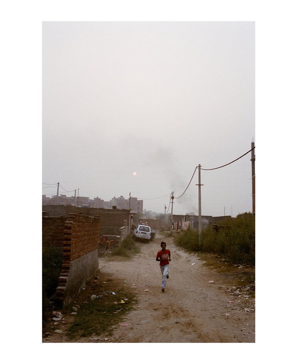 Madanpur Khadar slum, Delhi, India.