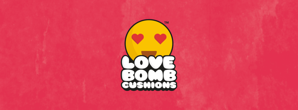 StrawberryToo - Love Bomb Cushions Branding