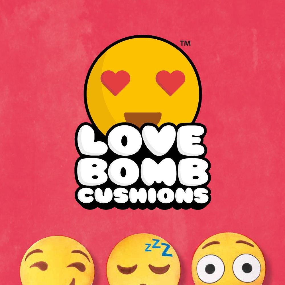 Strawberrytoo - LoveBomb Cushions