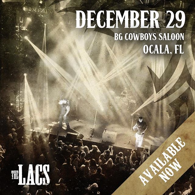 We're taking the party to Ocala, FL! We'll be playing @cowboyssaloon954 on December 29th. See you soon!!
