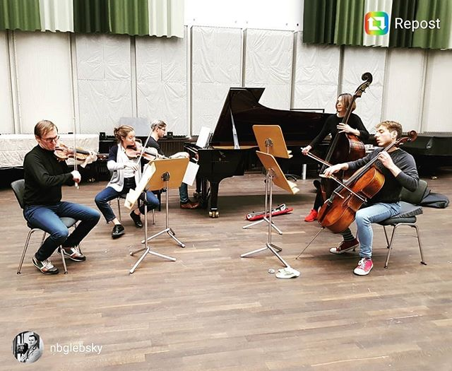 #repost @nbglebsky Getting ready for our concert in 2 hours with Rubik Ensemble! . . #chambermusic #concert #forelle #classicalmusic #ensemble #pianosalon #christophori #schubert #dvorak #quintet #sextet #instamusic #pianist