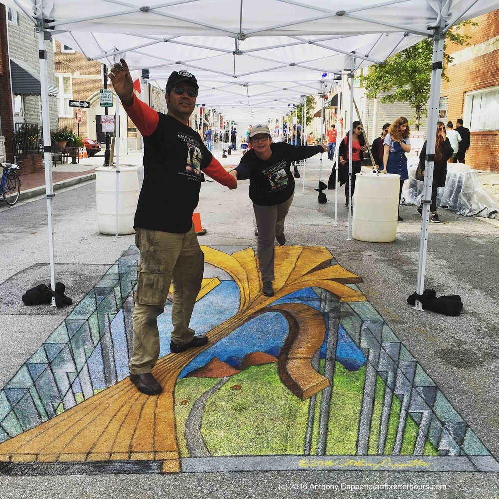 3D Dry Chalk Street Painting - Baltimore, MD