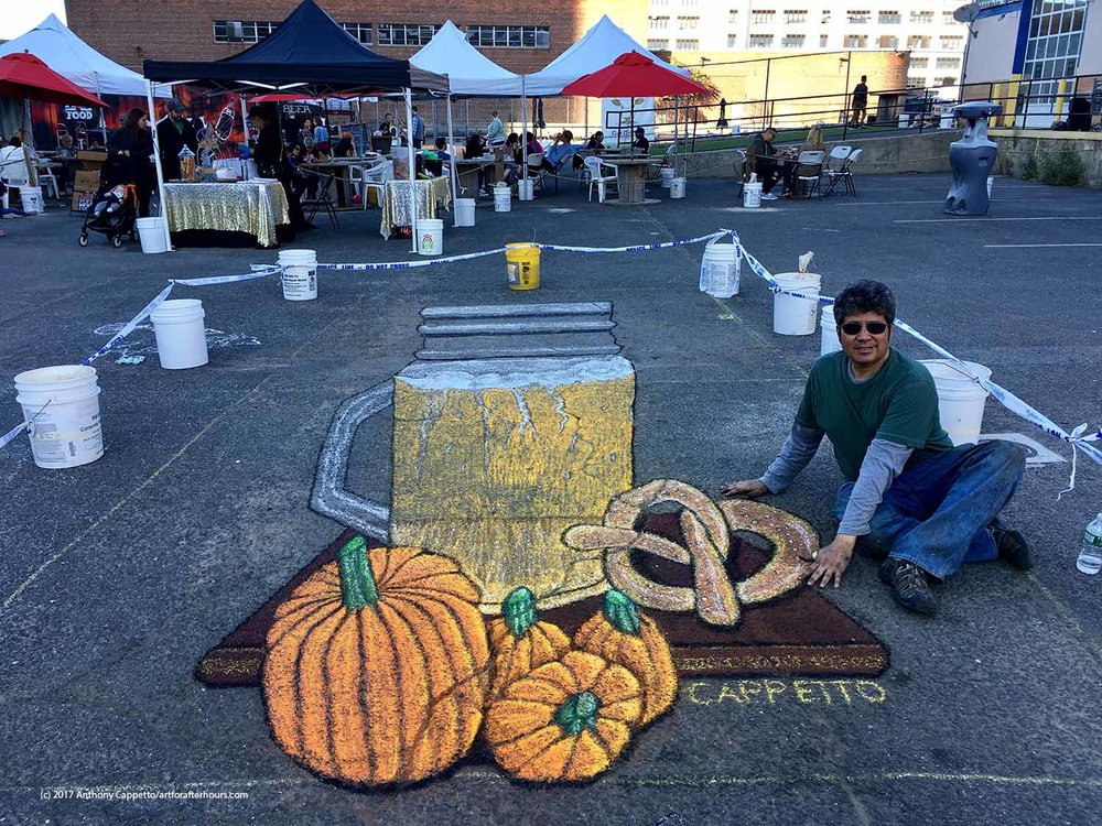 A fun weekend with 3D chalk art, and a fun festival.  How did we get there...  Let's see...