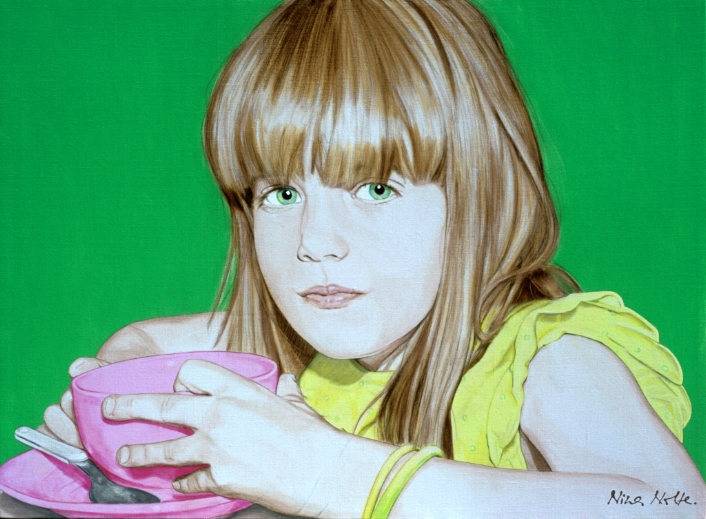 "La Merienda - Acrylic on canvas103 x 140 cm (44 x 55"")"