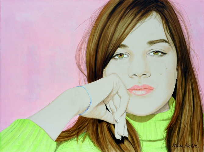 "Laura - Acrylic on canvas90 x 120 cm (35 x 47"")"