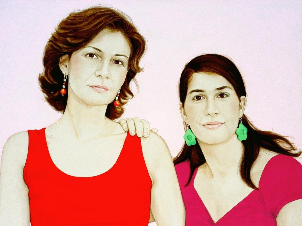 The two Virginias - Acrylic on canvas100 x 130 cm (39 x 51)