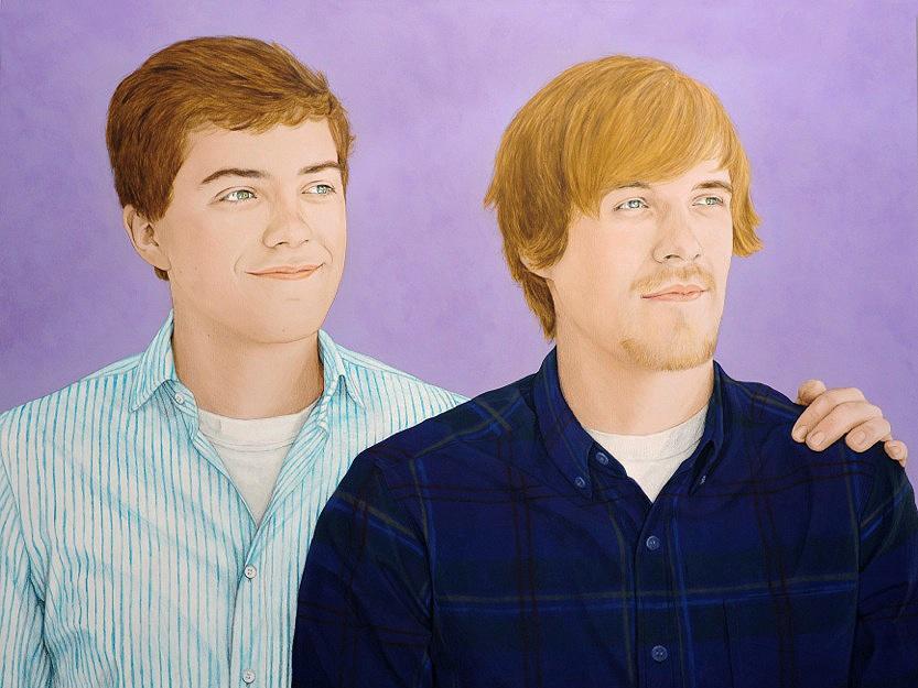 Linus and Leon - Acrylic on canvas100 x 130 cm (39 x 51)