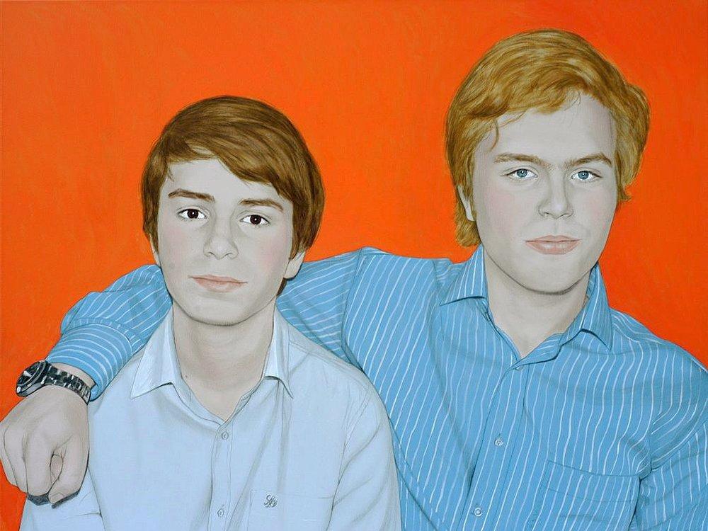 Julius and Konstantin - Acrylic on canvas100 x 130 cm (39 x 51)