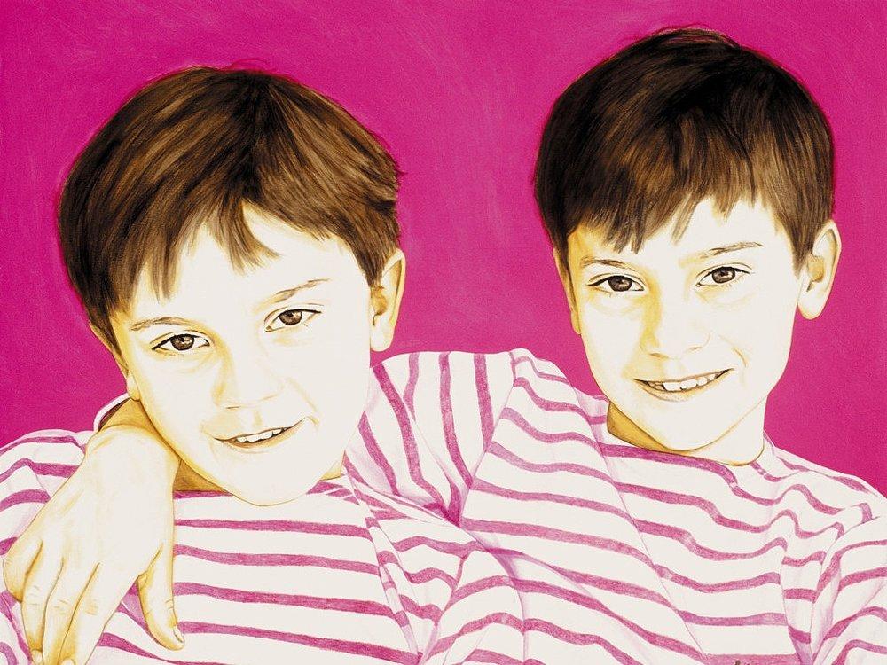 Joe and Louis - Acrylic on canvas98 x 120 cm (39 x 47)