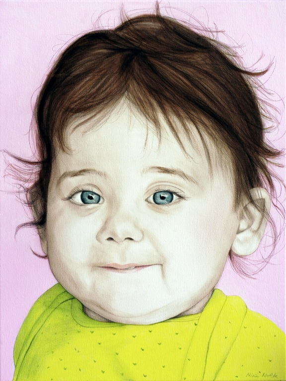 Elissa - Acrylic on canvas80 x 60 cm (31 x 24)