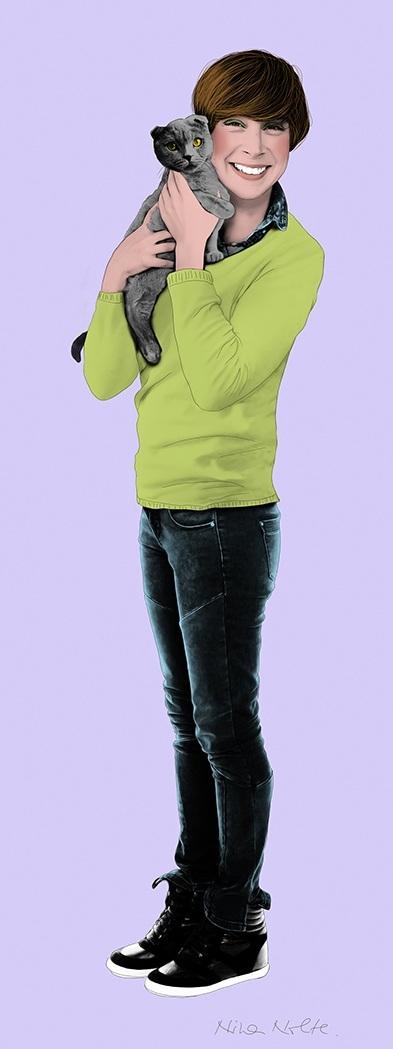 "Eloisa - Kakemono150 x 50 cm (59 x 20"")"