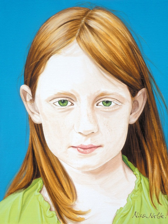 """Maria - Acrylic on canvas115 x 89 cm (45 x 35"""")"""