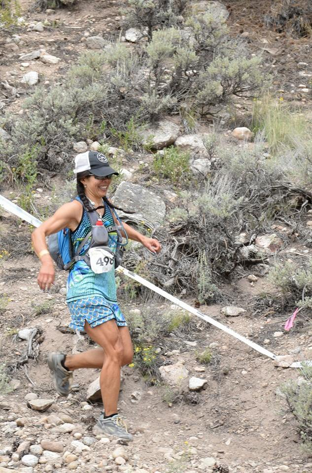 Laurie Nakauchi racing Leadville in 2014