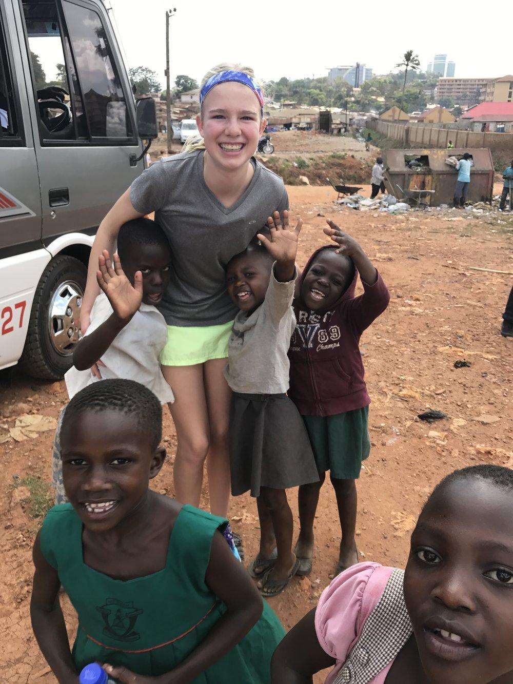 Kiah in Uganda.