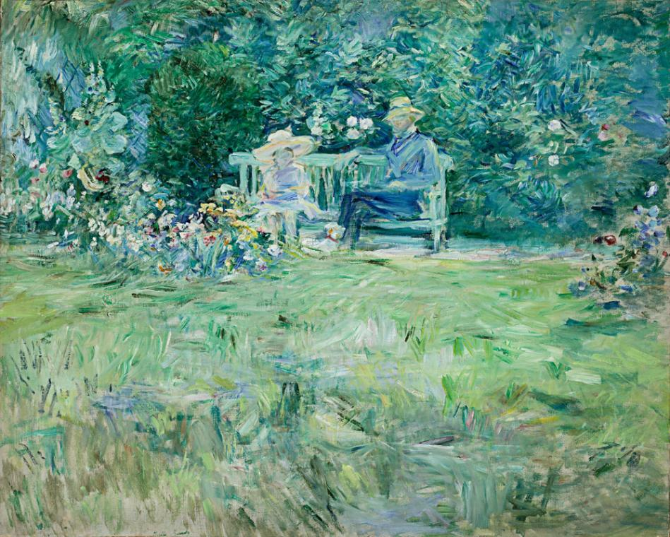 Berthe Morisot (French, 1841-1895), The Lesson in the Garden, 1886. PC: DAM.