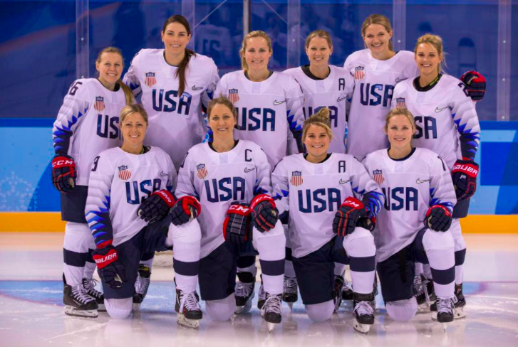 The 2018 U.S. Women's Hockey Team. PC: Women's Olympic Teams.